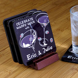 Personalized Drink Coasters - Martini Duet