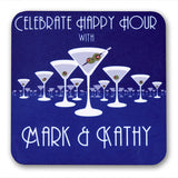 Personalized Drink Coasters - Martini Horizon