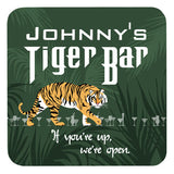 Personalized Drink Coasters, Tiger Bar