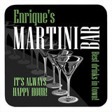 Personalized Drink Coasters, Martini Parade Hardboard