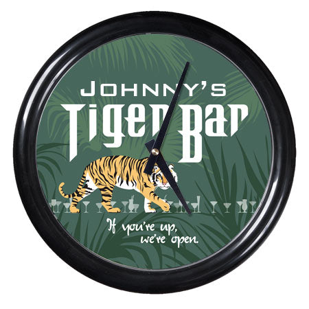 Personalized Clock - Tiger Bar