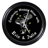 Personalized Clock - Martini Duet