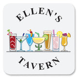 Personalized Drink Coasters - Tavern