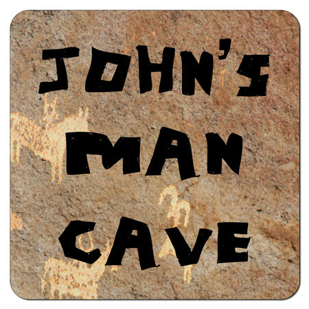 Personalized Man Cave Coasters (Set of 4)