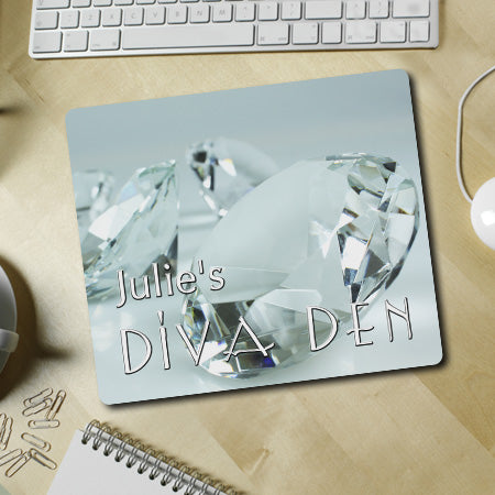 Personalized Diamond Diva Den Mousepad
