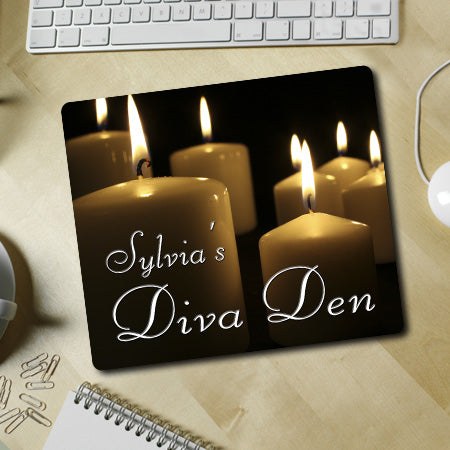 Personalized Candle Diva Den Mousepad
