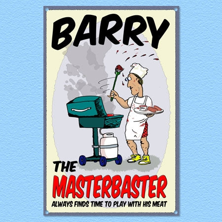 Personalized Masterbaster Metal Sign