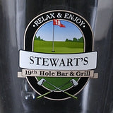 Personalized Beer Pitcher Set, 19th Hole