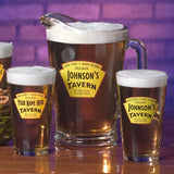 Personalized Beer Glasses and/or Pitcher  - Yellow Tavern