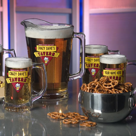 Personalized Beer Mugs/Pitcher - Red Tavern