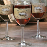Personalized Wine Glasses and/or Carafe - Brown Chateau