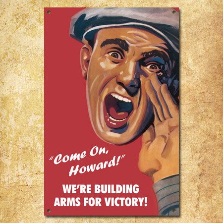Personalized Arms For Victory Metal Sign