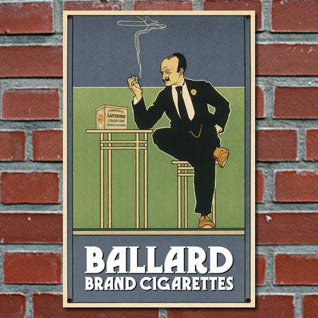Personalized Vintage Cigarette Ad Sign