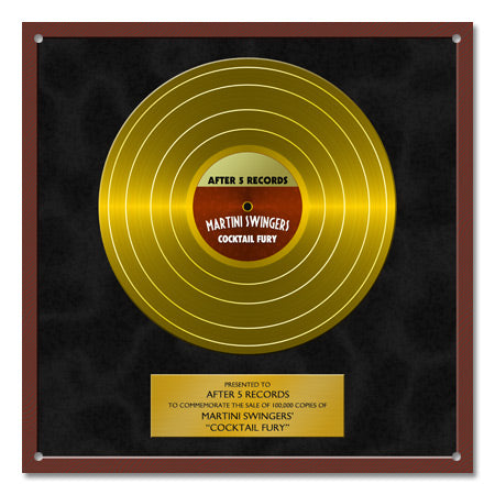 Personalized Gold Record Metal Sign