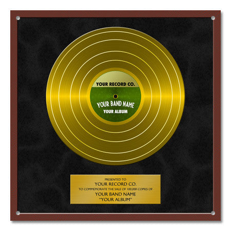 Personalized Gold Record Steel Sign