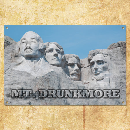 Personalized Mount Rushmore Sign