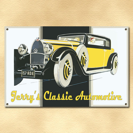 Personalized Classic Automotive Metal Sign