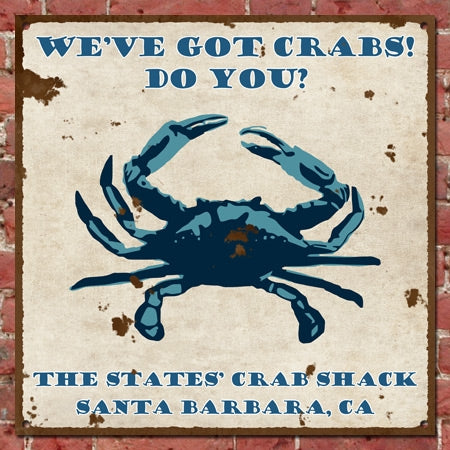 Personalized Vintage Crab Shack Sign
