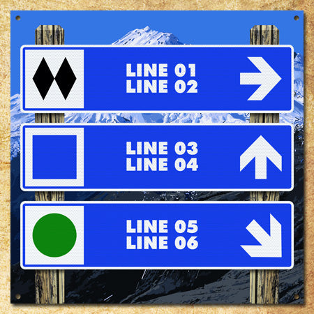 Personalized Ski Trail Triptych Sign