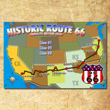 Personalized Route 66 Family Trip Map Sign