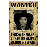 Personalized Wanted Poster Sign