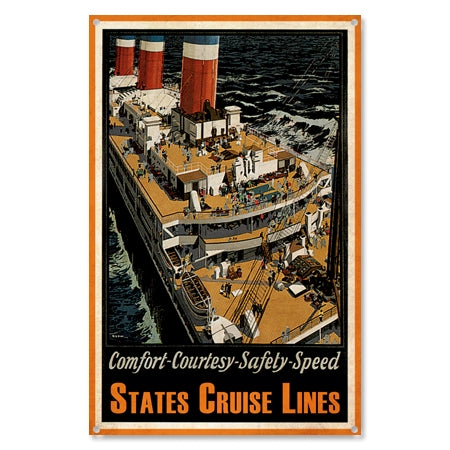 Personalized British Cruise Lines Metal Sign