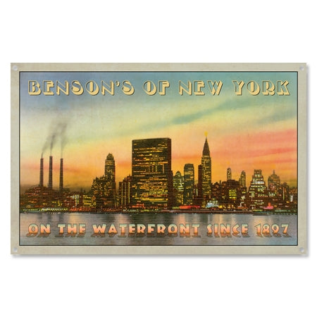 Personalized New York Waterfront Sign