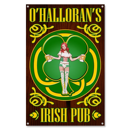 Personalized Irish Pub Pin Up Metal Sign