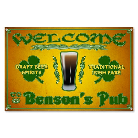 Personalized Irish Welcome Beer Metal Sign