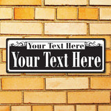 New Orleans Style Personalized Street Sign