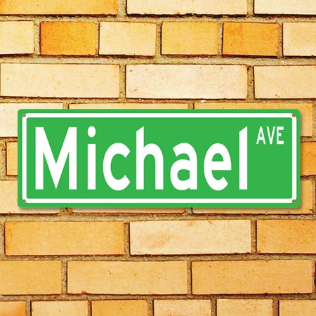 Personalized Metal Street Sign