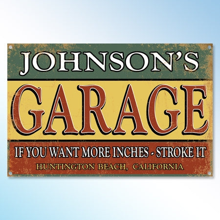 Personalized Funny Metal Garage Sign