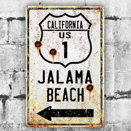 Personalized Metal Highway Sign With Bullet Holes