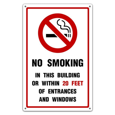 Custom No Smoking Warning Sign