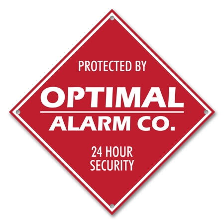 Personalized Metal Red Diamond Alarm Sign