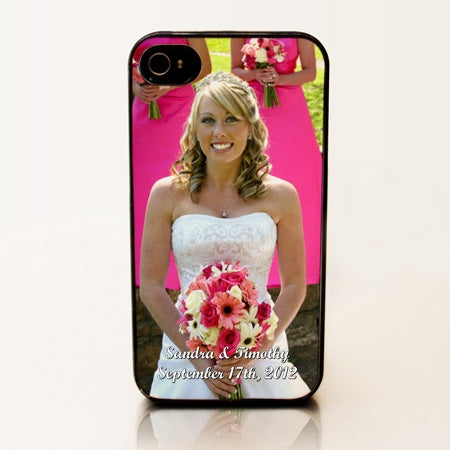 Personalized iPhone 4 Case - Wedding Portrait