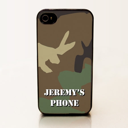 Personalized iPhone 4 Case - Green Camo