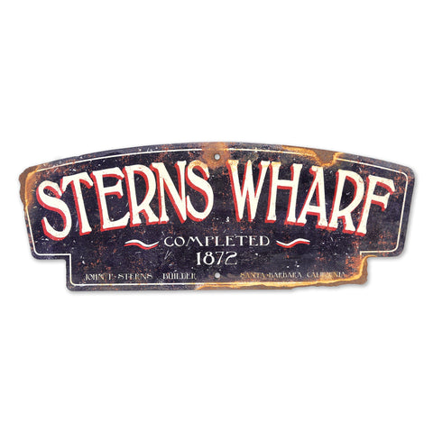 Plasma Cut Steel Sterns Wharf Sign