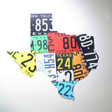 Texas Shaped Steel License Plate Map