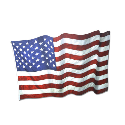 Plasma Cut American Flag Steel Sign