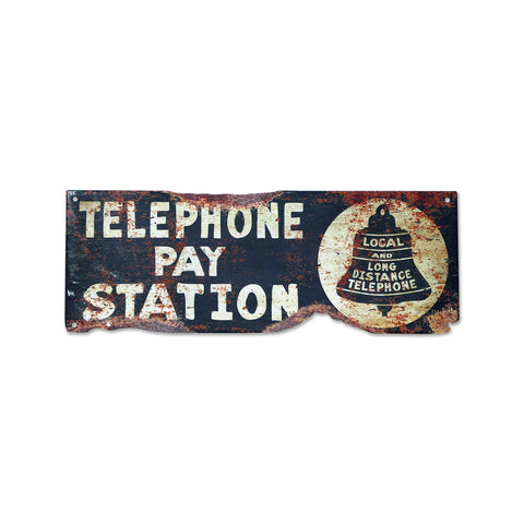 Vintage Style Plasma Cut Telephone Sign