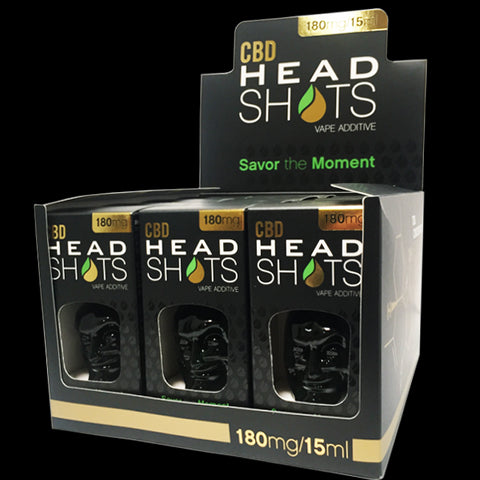 Head Shots CBD 180mg - 15ml (BOX - 12 Units)