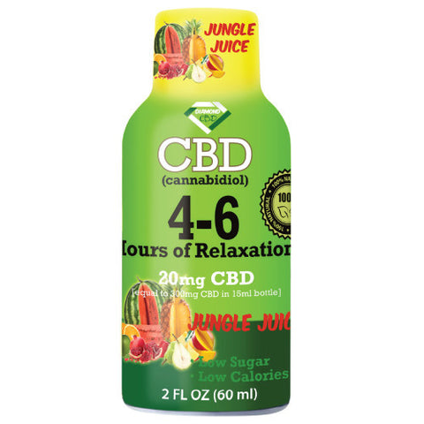 4-6 HOURS OF RELAXATION DIAMOND CBD SHOT 20MG (60ML) - Jungle Juice