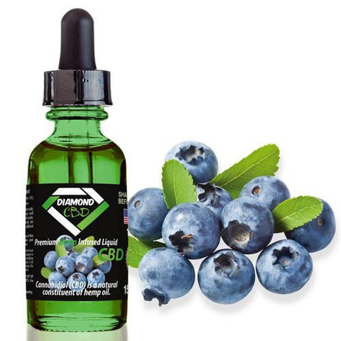 Diamond CBD Blueberry flavor (50mg-550mg) - 15ml