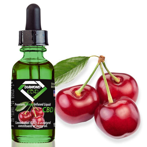 Diamond CBD Cherry flavor (50mg-550mg) - 15ml