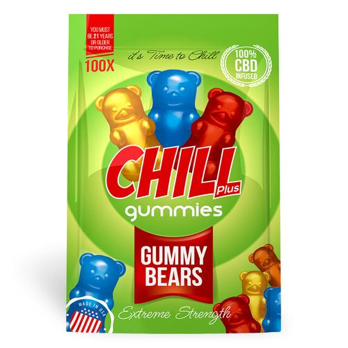Chill Plus Gummies - CBD Infused Gummy Bears (Box of 12)