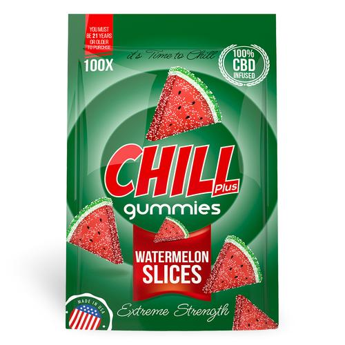 Chill Plus Gummies - CBD Infused Watermelon Slices (Box of 12)