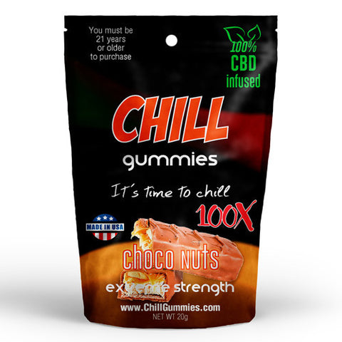 CHILL GUMMIES - CBD INFUSED CHOCO NUTS (Box of 12)