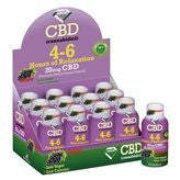 4-6 HOURS OF RELAXATION DIAMOND CBD SHOT 20MG (60ML) - Grape (BOX)