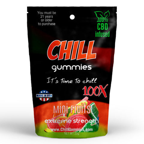 CHILL GUMMIES - CBD INFUSED MINI FRUITS<br> (Box of 12)